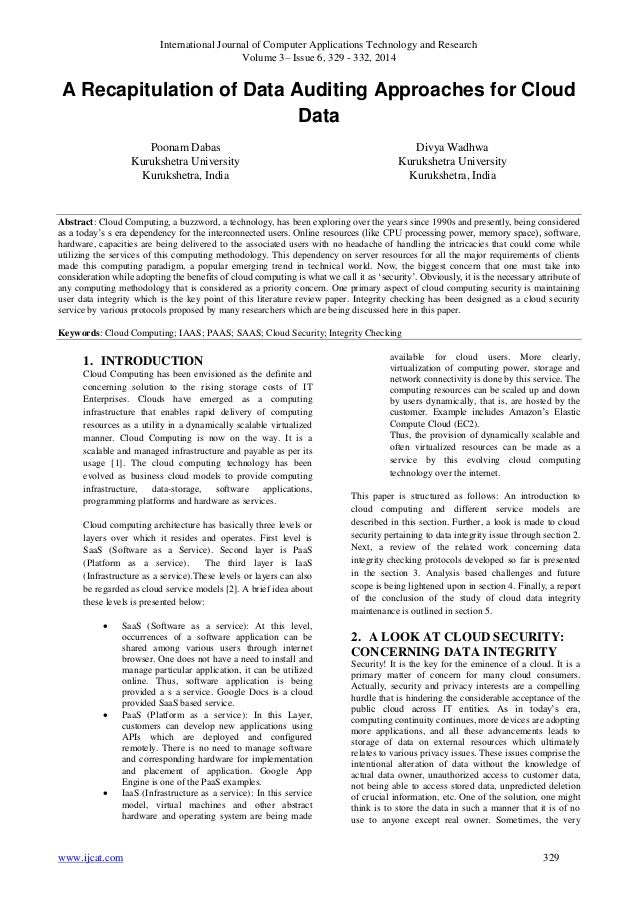 International Journal of Computer Applications Technology and Research Volume 3– Issue 6, 329 - 332, 2014 www.ijcat.com 32...