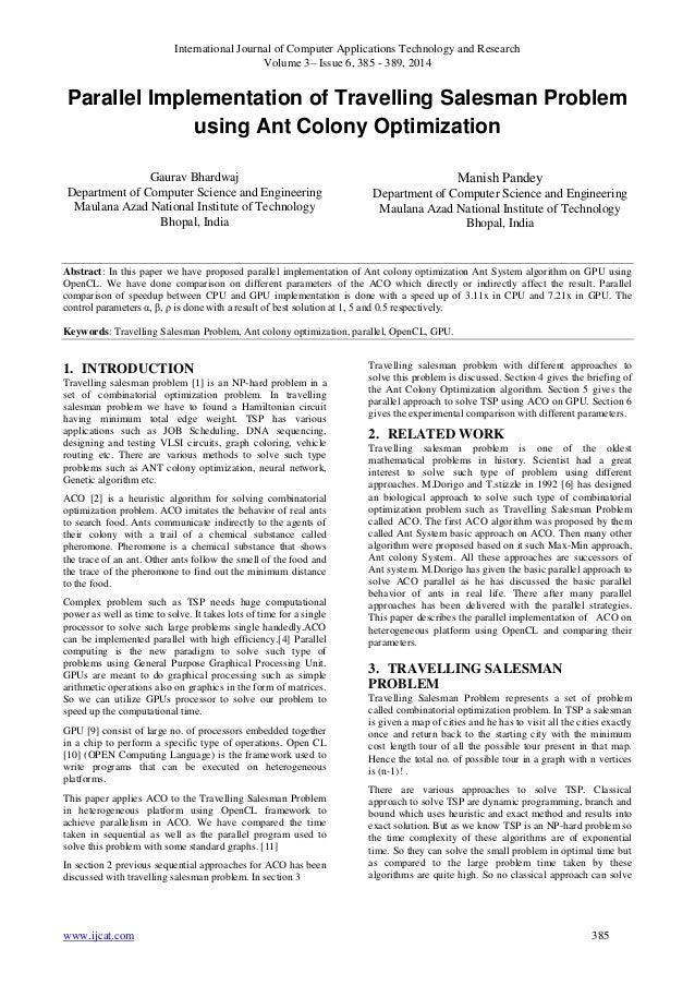 Research Paper Traveling Salesman Problem
