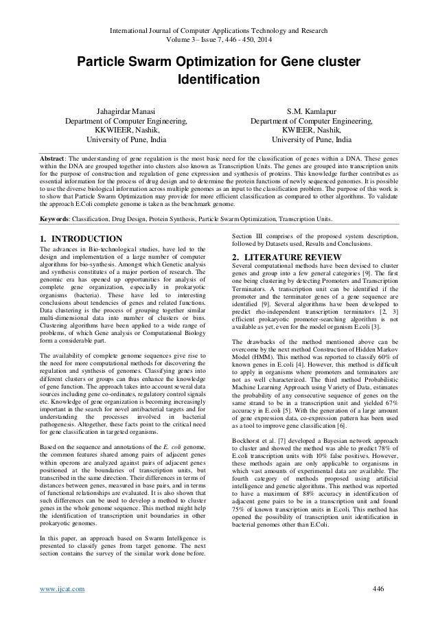 International Journal of Computer Applications Technology and Research Volume 3– Issue 7, 446 - 450, 2014 www.ijcat.com 44...