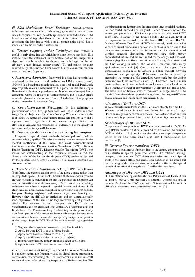 digital watermarking research papers Implementation of fractal technique in digital watermarking  this paper aims at image watermarking with the demerits in existing system and  research paper.