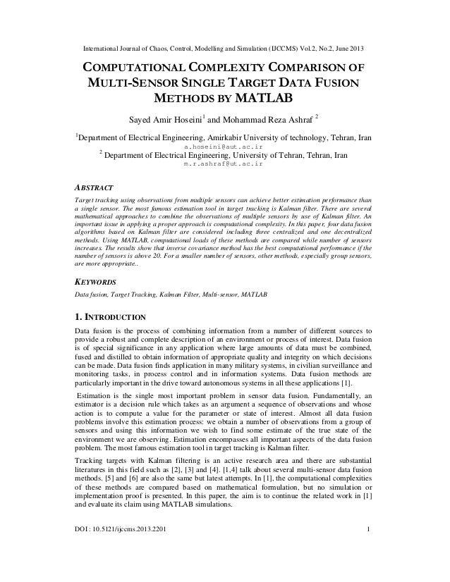 International Journal of Chaos, Control, Modelling and Simulation (IJCCMS) Vol.2, No.2, June 2013 DOI : 10.5121/ijccms.201...