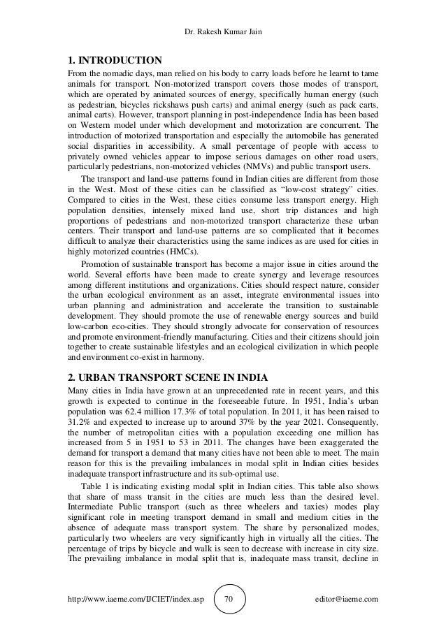 Transportation Planning Aspects of a Smart City–Case Study ...