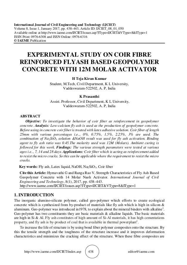 http://www.iaeme.com/IJCIET/index.asp 438 editor@iaeme.com International Journal of Civil Engineering and Technology (IJCI...