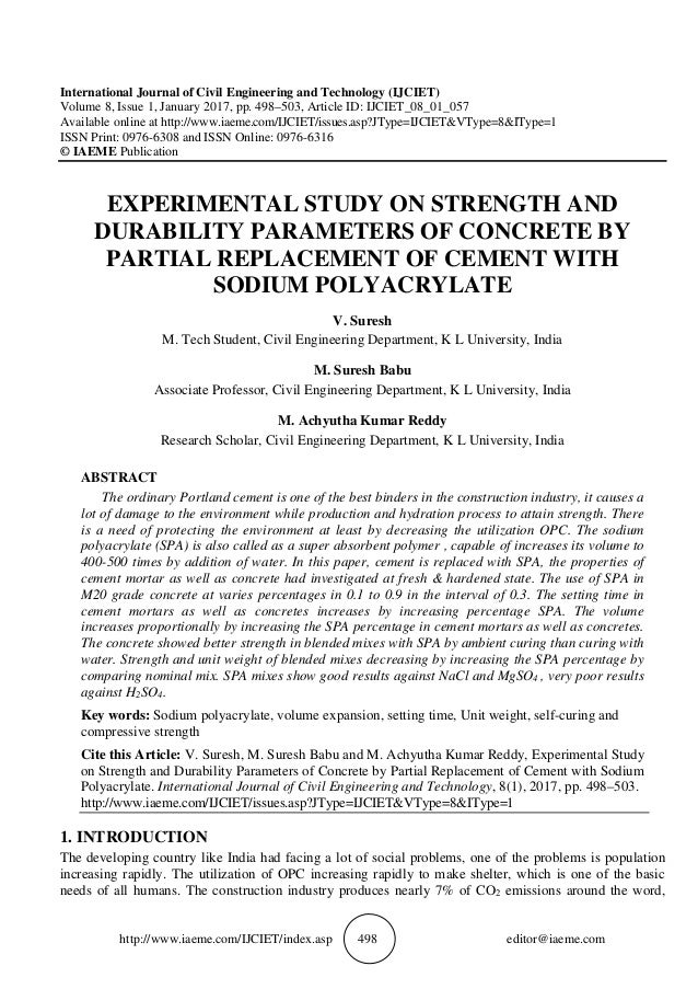 e041bf907421 EXPERIMENTAL STUDY ON STRENGTH AND DURABILITY PARAMETERS OF CONCRETE …