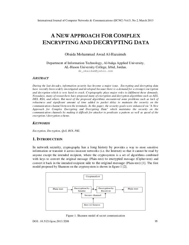 International Journal of Computer Networks & Communications (IJCNC) Vol.5, No.2, March 2013         A NEW APPROACH FOR COM...