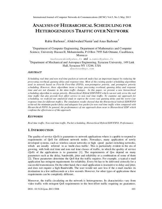 International Journal of Computer Networks & Communications (IJCNC) Vol.5, No.3, May 2013DOI : 10.5121/ijcnc.2013.5308 103...