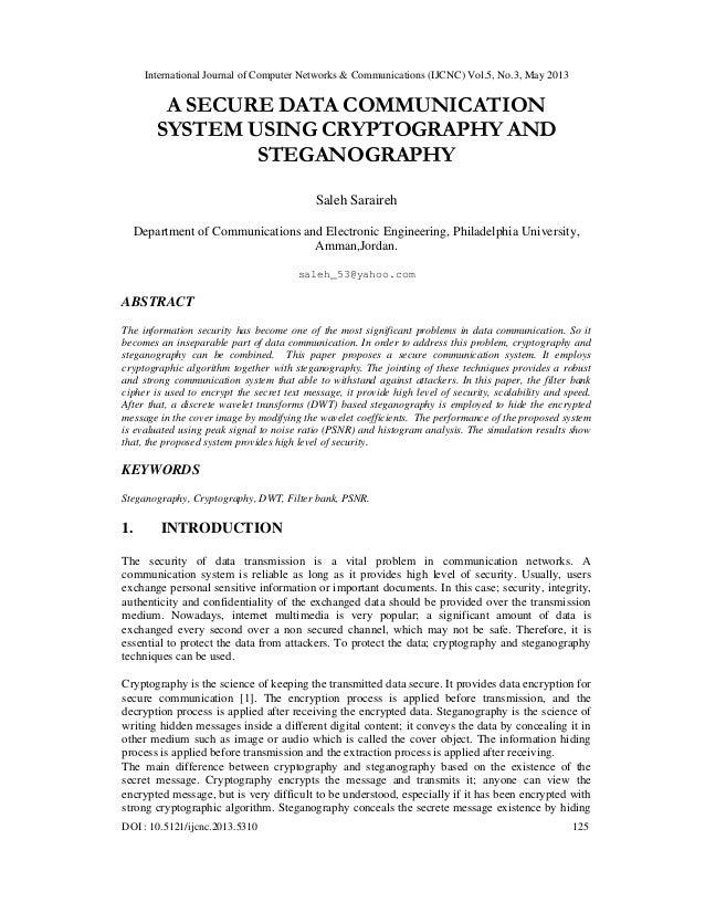 International Journal of Computer Networks & Communications (IJCNC) Vol.5, No.3, May 2013DOI : 10.5121/ijcnc.2013.5310 125...