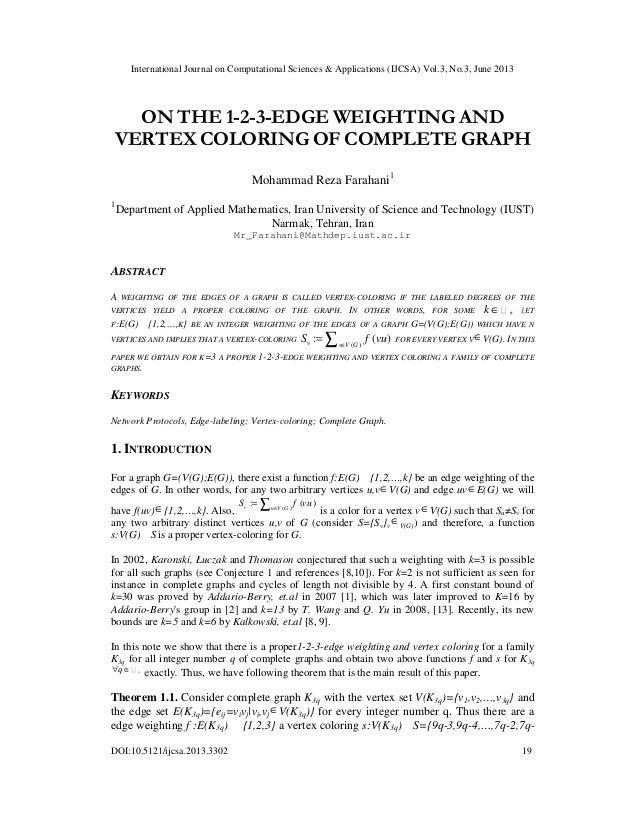 International Journal on Computational Sciences & Applications (IJCSA) Vol.3, No.3, June 2013 DOI:10.5121/ijcsa.2013.3302 ...