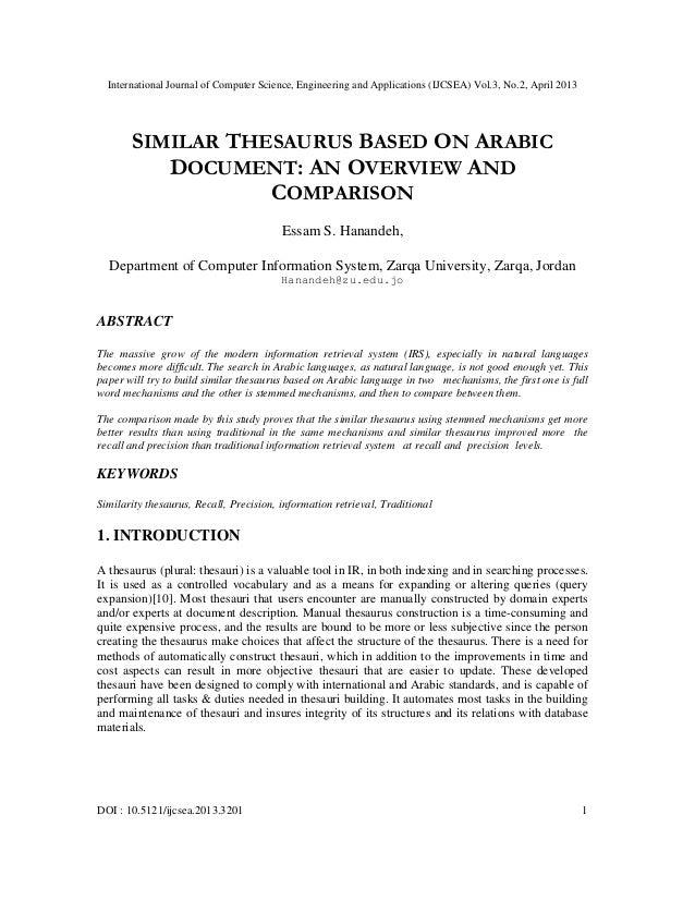 International Journal of Computer Science, Engineering and Applications (IJCSEA) Vol.3, No.2, April 2013DOI : 10.5121/ijcs...