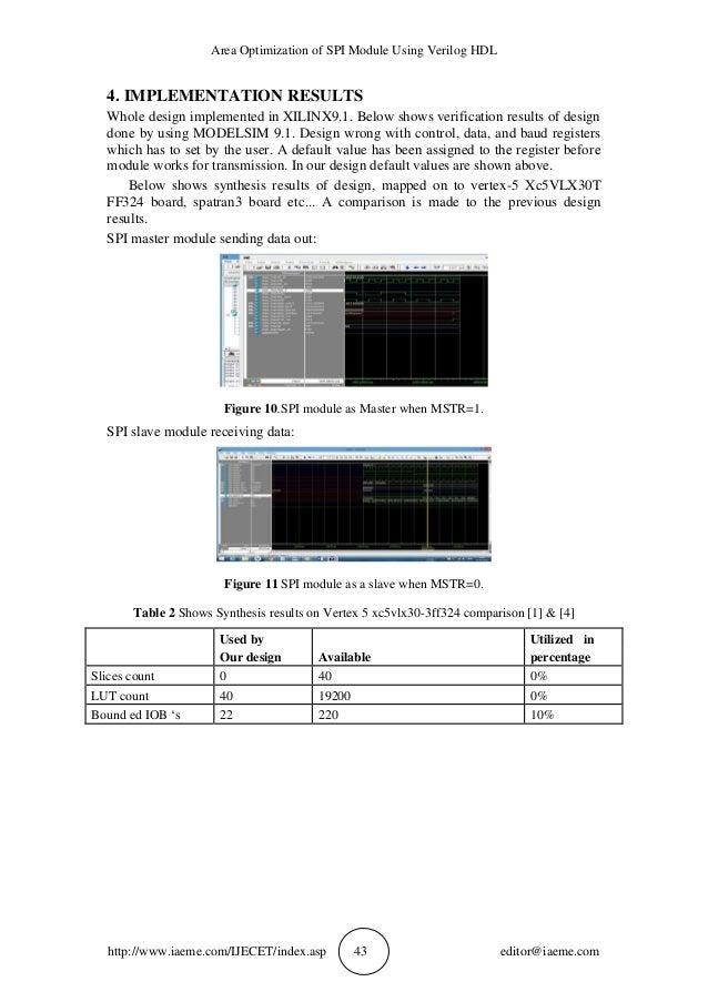 Verilog Rtl Of Spi Protocol