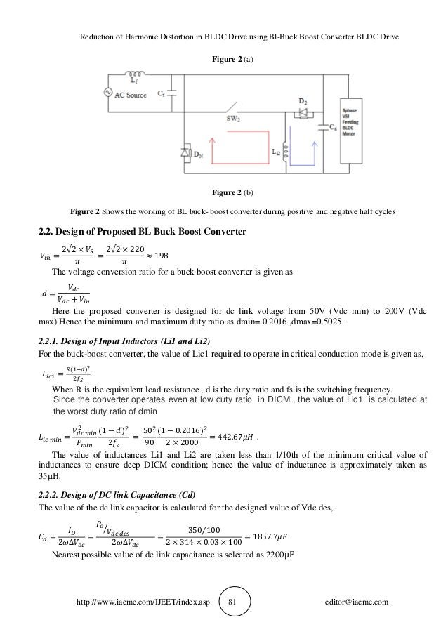 Reduction of Harmonic Distortion in BLDC Drive using Bl-Buck Boost Converter BLDC Drive http://www.iaeme.com/IJEET/index.a...