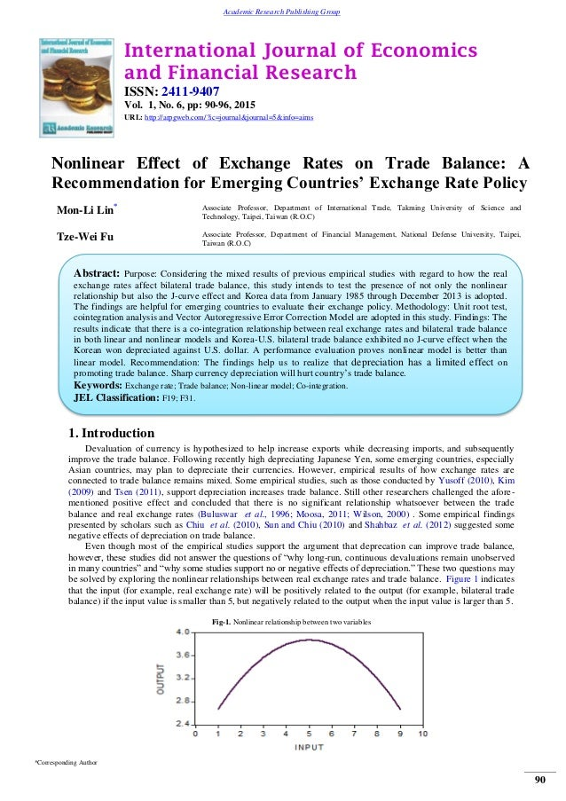 the effect of trade balance on Need to define real-balance effect economic term real-balance effect definition to find out what is real-balance effect, see this explanation.