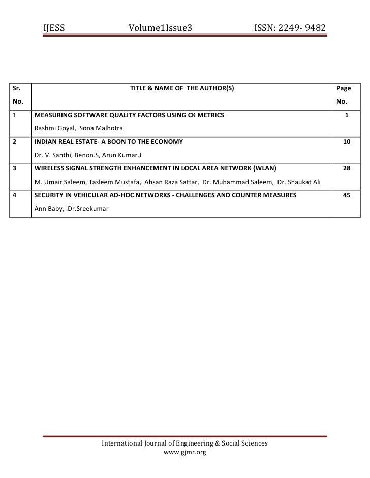 IJESSVolume1Issue3                   ISSN:2249‐9482                    Sr.          ...