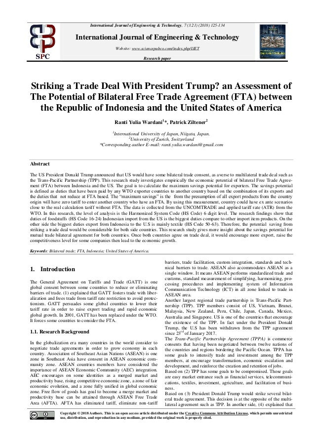 Striking A Trade Deal With President Trump An Assessment Of The Pote