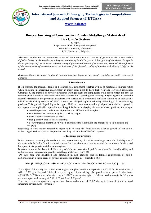International Association of Scientific Innovation and Research (IASIR) (An Association Unifying the Sciences, Engineering...