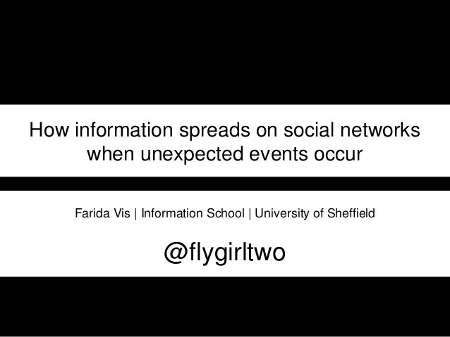 How information spreads on social networks when unexpected events occur Farida Vis | Information School | University of Sh...