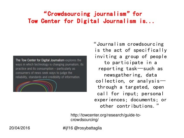 Between civic and data journalism: how to work on a crowdsourced journalistic investigation #ijf16 Slide 3