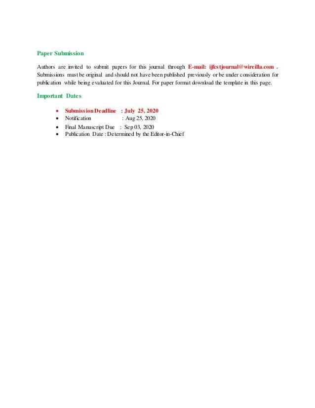 International Journal on Foundations of Computer Science & Technology (IJFCST) Slide 2