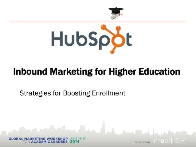 Inbound Marketing for Higher Education Strategies for Boosting Enrollment