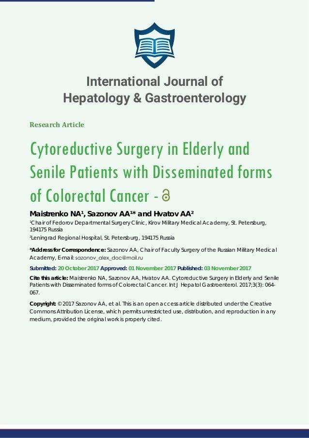 International Journal Of Hepatology Gastroenterology