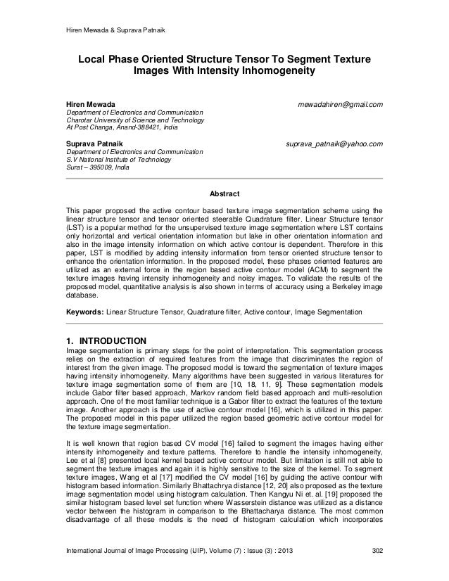 Hiren Mewada & Suprava Patnaik International Journal of Image Processing (IJIP), Volume (7) : Issue (3) : 2013 302 Local P...