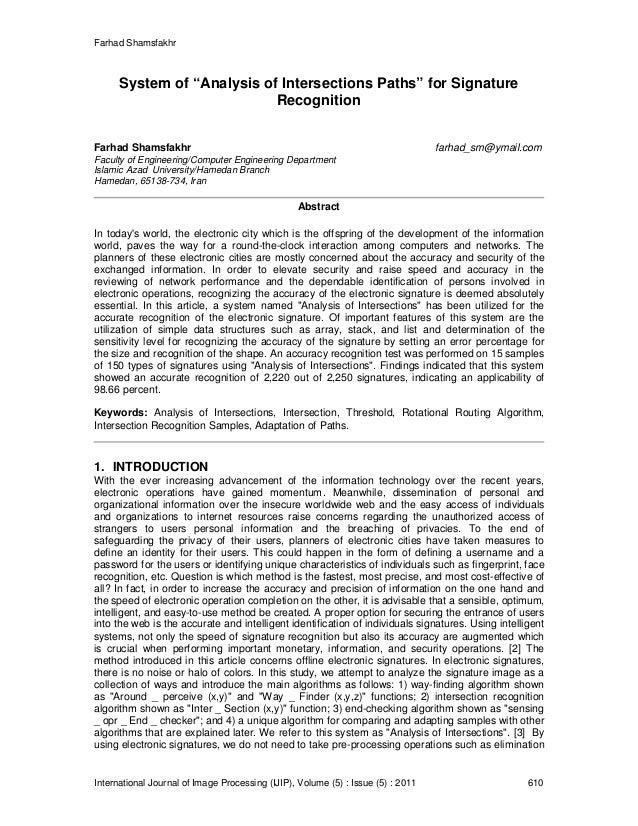 "Farhad Shamsfakhr International Journal of Image Processing (IJIP), Volume (5) : Issue (5) : 2011 610 System of ""Analysis ..."