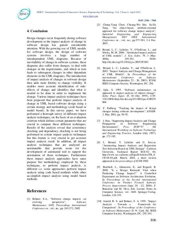 software change impact analysis pdf
