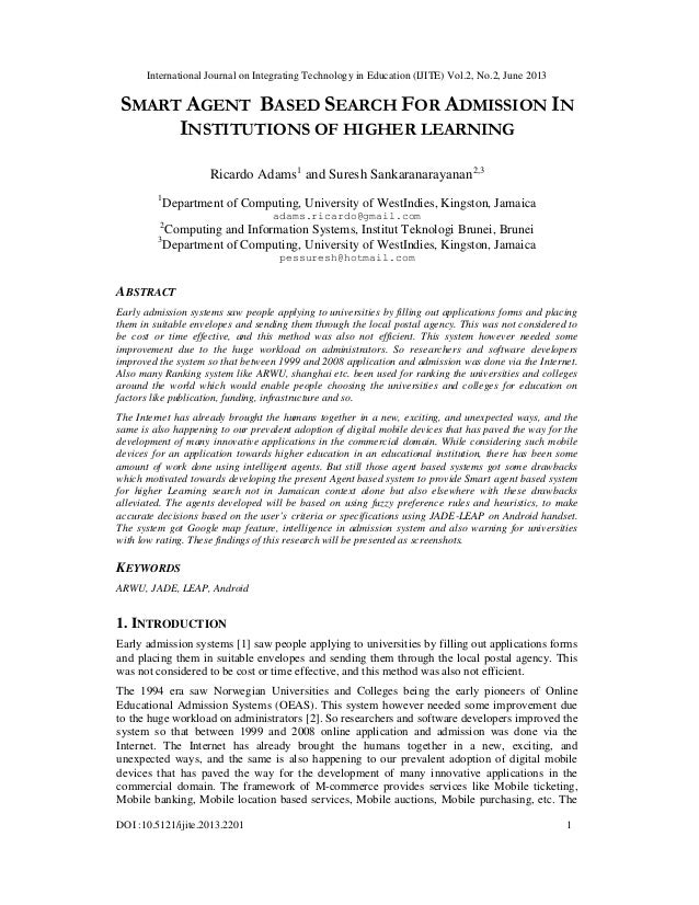 International Journal on Integrating Technology in Education (IJITE) Vol.2, No.2, June 2013 DOI :10.5121/ijite.2013.2201 1...