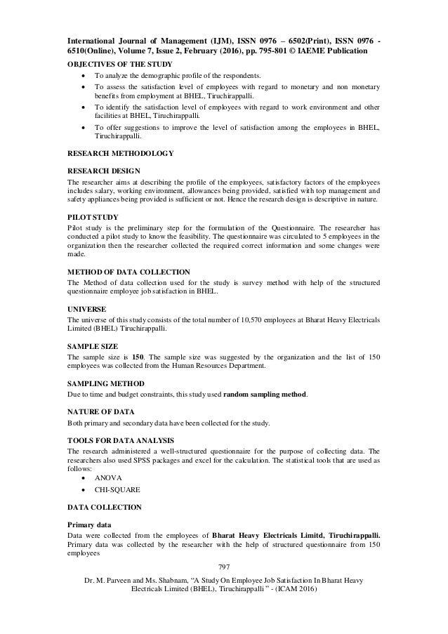 Essay Example: Organisational Study at Bhel