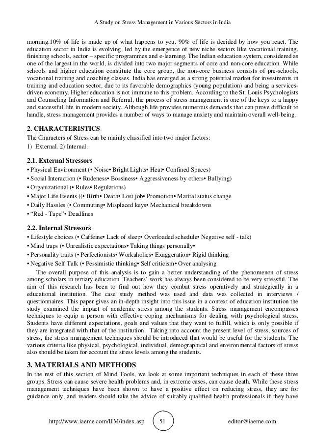 organizational change and stress management case study