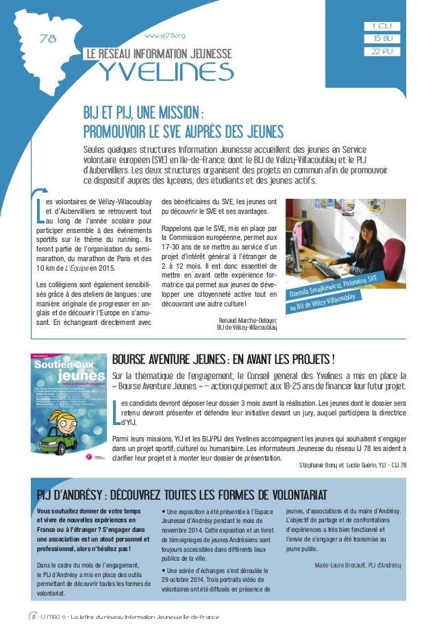 www.yij78.org LE RÉSEAU INFORMATION JEUNESSE YVELINES L es volontaires de Vélizy-Villacoublay et d'Aubervilliers se retrou...