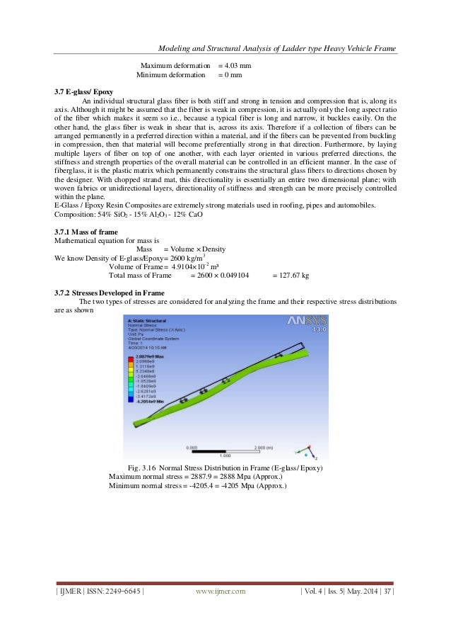 Modeling and Structural Analysis of Ladder Type Heavy Vehicle Frame