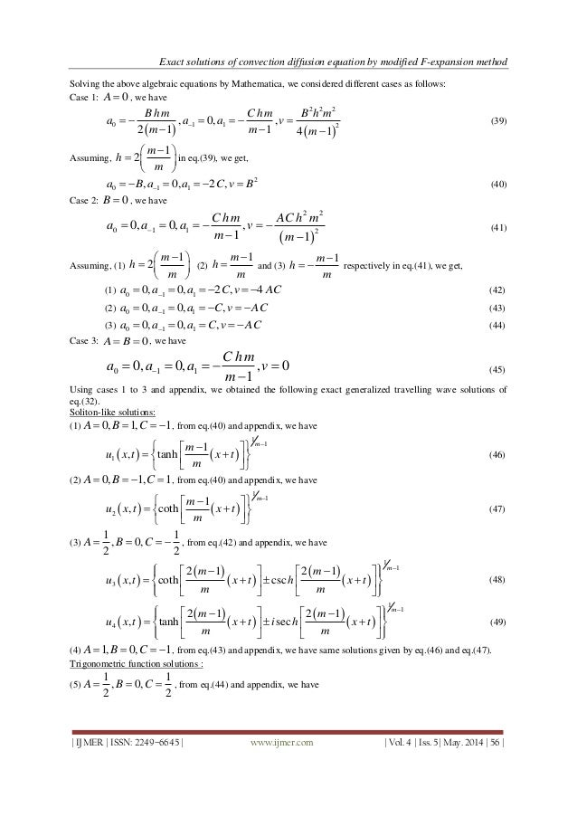 Exact Solutions of Convection Diffusion Equation by Modified