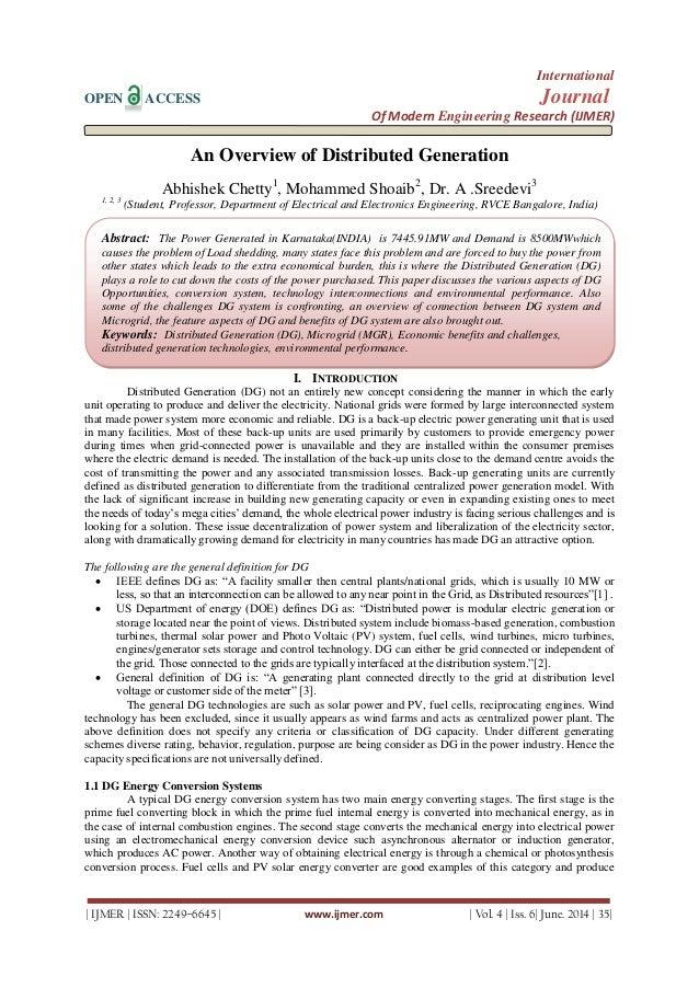 International OPEN ACCESS Journal Of Modern Engineering Research (IJMER)   IJMER   ISSN: 2249–6645   www.ijmer.com   Vol. ...