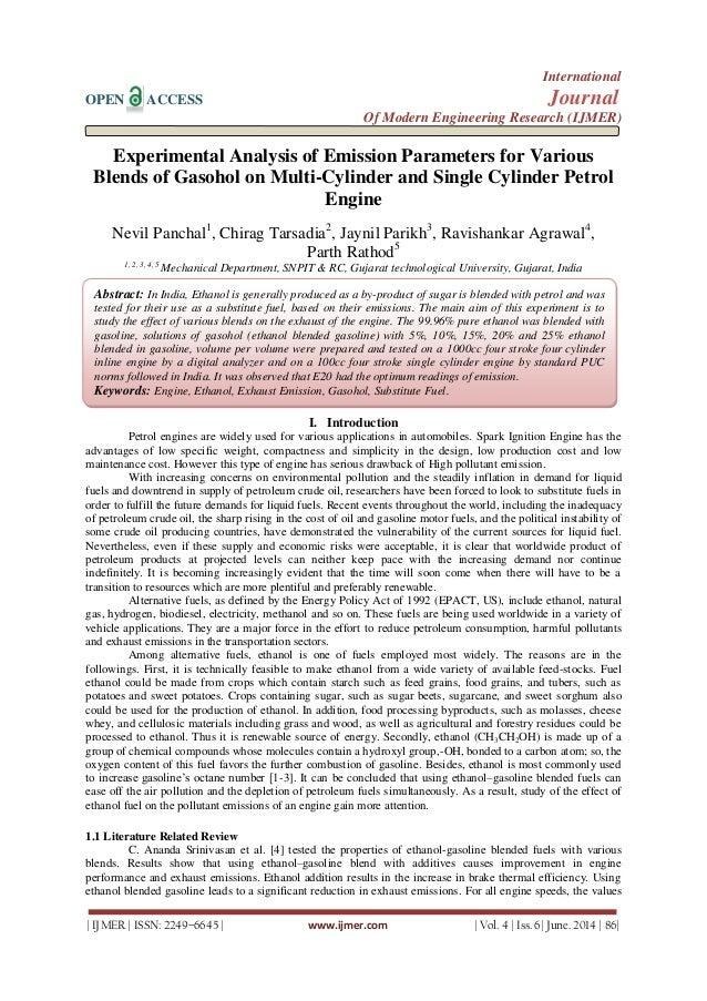 GASOHOL EXPERIMENT PDF DOWNLOAD
