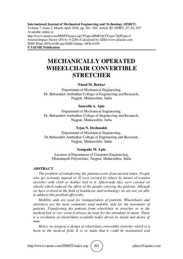 http://www.iaeme.com/IJMET/index.asp 261 editor@iaeme.com International Journal of Mechanical Engineering and Technology (...