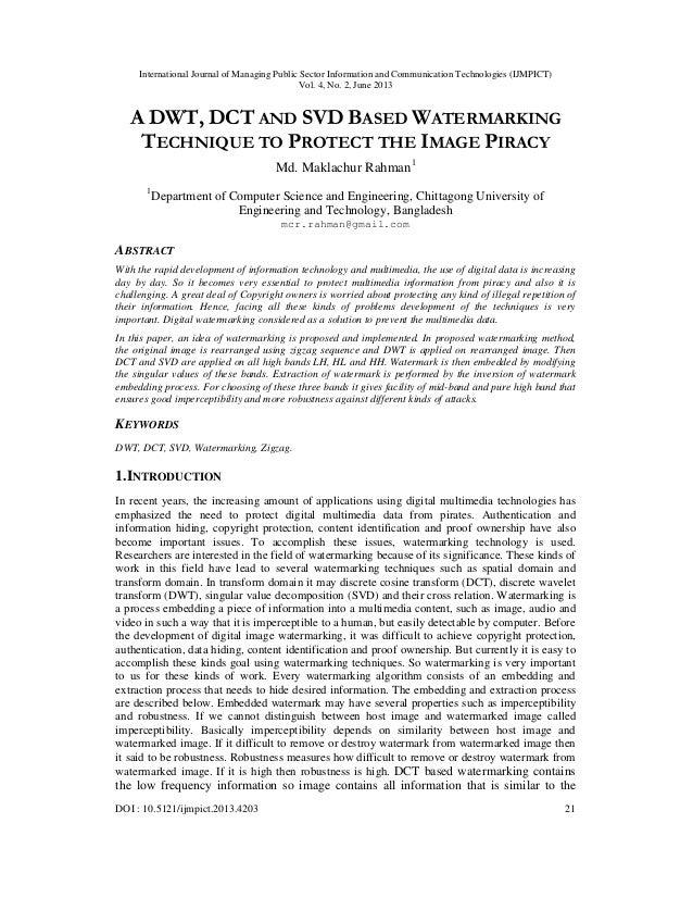 International Journal of Managing Public Sector Information and Communication Technologies (IJMPICT) Vol. 4, No. 2, June 2...