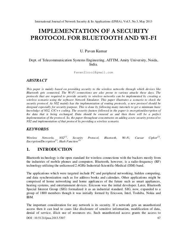 International Journal of Network Security & Its Applications (IJNSA), Vol.5, No.3, May 2013DOI : 10.5121/ijnsa.2013.5307 ...
