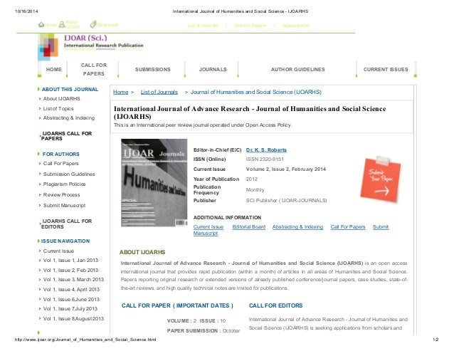 IJOAR Journal of Humanities and Social Science