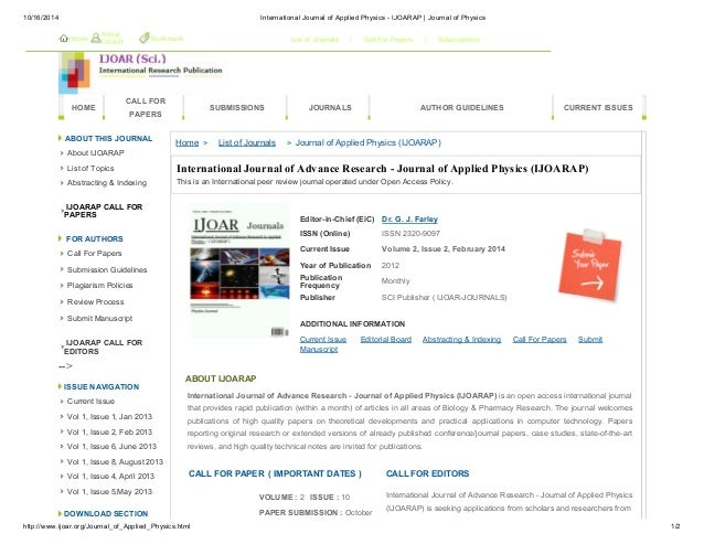IJOAR Journal of Physics