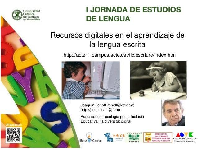 Joaquin Fonoll jfonoll@xtec.cat http://jfonoll.cat @jfonoll Assessor en Tecnlogia per la Inclusió Educativa i la diversita...
