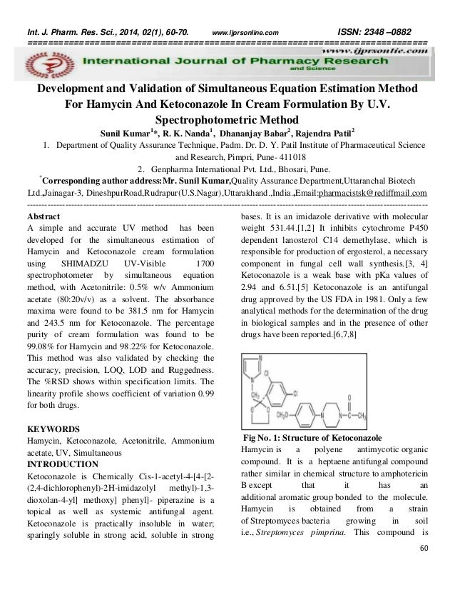 validated method for simultaneous estimation of Validation and development of hptlc method for simultaneous estimation of apigenin and luteolin in selected marketed ayurvedic formulations of 'dashmula' and in ethyl acetate extract of premna integrifolia l.