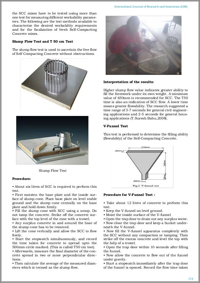 Standard test method for slump flow of self consolidating concrete