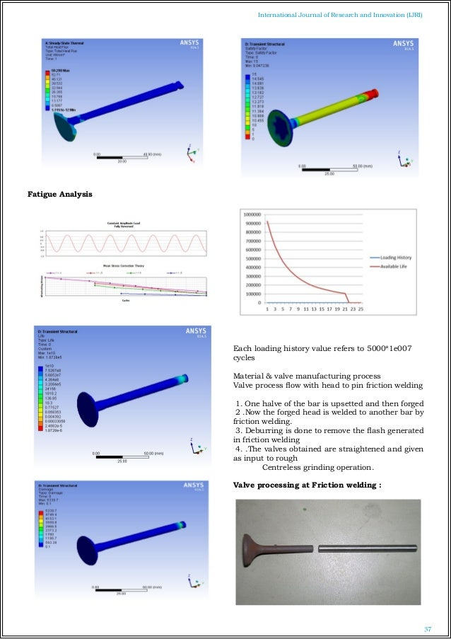 material manufacturing and analysis of engine crankshaft Design, analysis and optimization of a 6 cylinder engine crank  consist of static structural analysis of six cylinder engine crank shaft  the materials .
