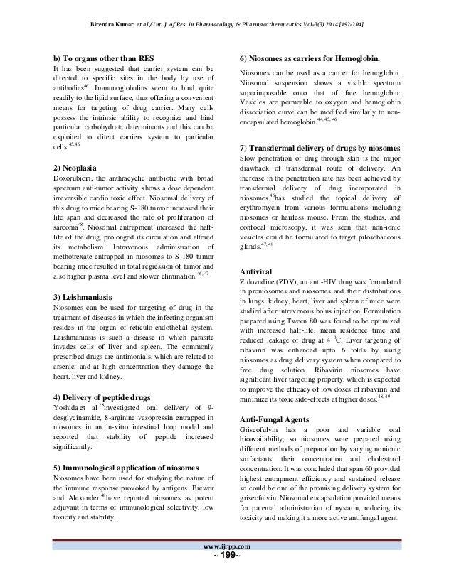 dissertation on niosomes