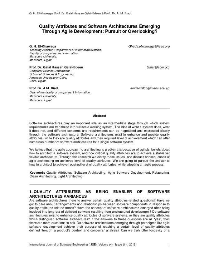 G. H. El-Khawaga, Prof. Dr. Galal Hassan Galal-Edeen & Prof. Dr. A. M. Riad International Journal of Software Engineering ...