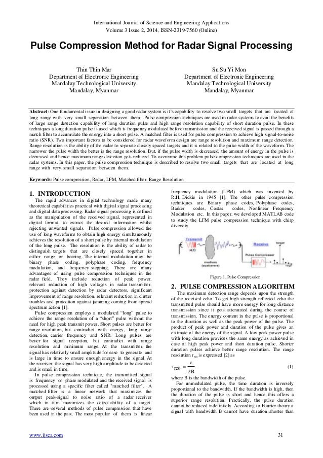 International Journal of Science and Engineering Applications Volume 3 Issue 2, 2014, ISSN-2319-7560 (Online) www.ijsea.co...