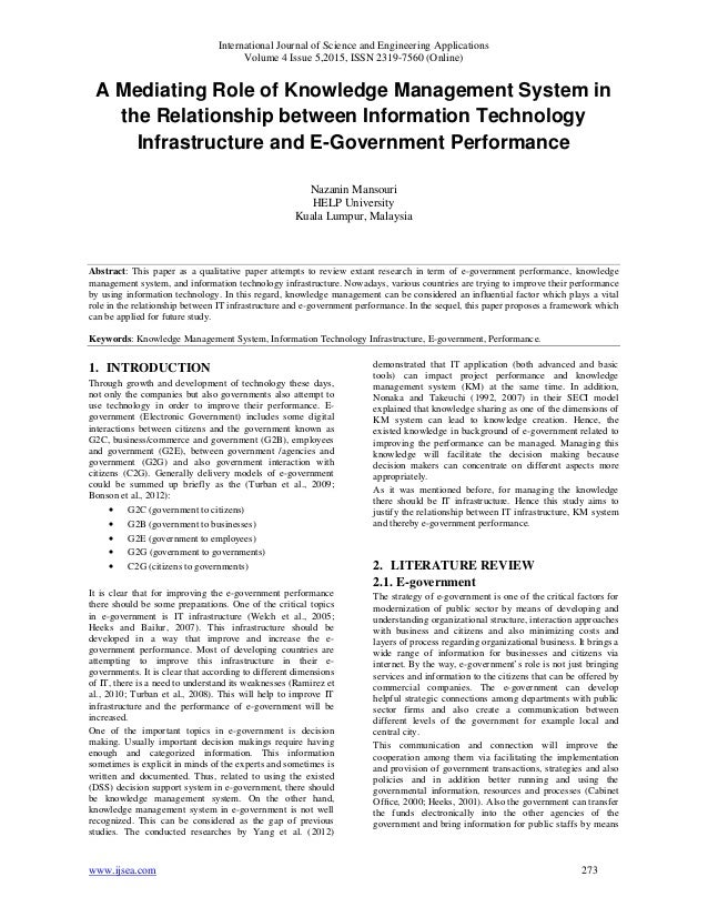 A Mediating Role of Knowledge Management System in the