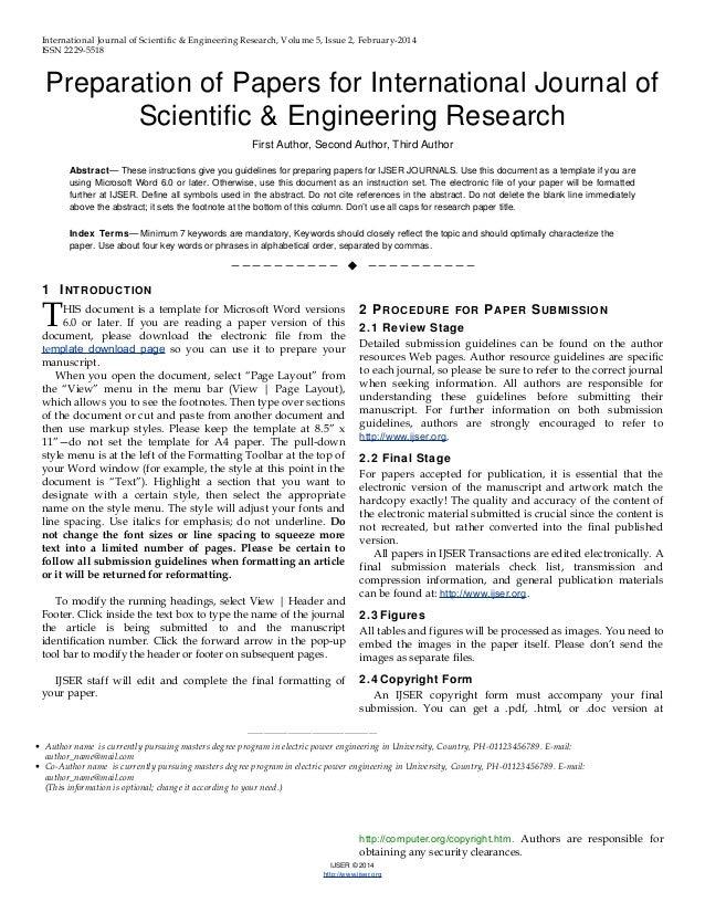 ijser org online research paper viewer