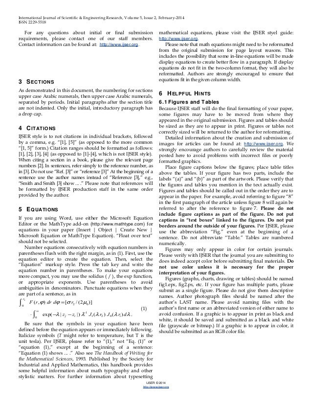 academic journal template word - ijser template international journal of scientific